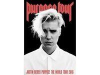 1 Standing Justin Bieber Ticket - Sheffield. 26/10/16