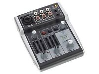 BHERINGER XENYX 302 AUDIO INTERFACE MIXER. incl all usb cables EX, COND COLLECT ONLY HYDE AREA