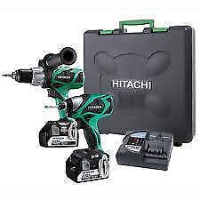 Hitachi 18V Brushless Hammer Drill and Impact Driver Kit KC18DJL