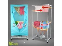 Portable electric dryer wardrobe blue/pink **collection only**