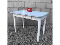 Original vintage 50s/60s kitchen table with Formica gingham top