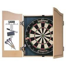 dartboard and cupboard