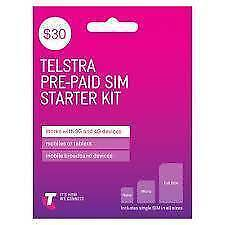 TELSTRA $30 dollars prepaid sim Starter kit - get it for $14.99! Glendalough Stirling Area Preview