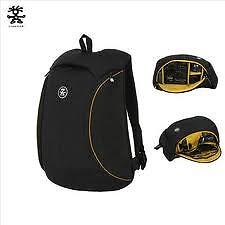 CRUMPLER MUFFIN TOP SLIM CAMERA BACK PACK BAG BLACK AND MUSTARD