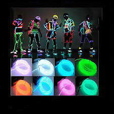 4M 3V Flexible Neon EL Wire Light Danse Party Decor Lumière.