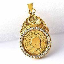 Mens gold pendant ebay mens solid gold pendant aloadofball Choice Image