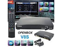 hd skybox v8s wd 12 mnth openbox