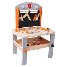 DIY WOODEN WORKBENCH CONSTRUCTION STATION CHILDS PLAY BOYS FUN TOY TOOLS BUILD