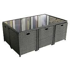 rattan cube set