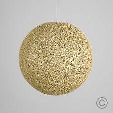 Rattan / Woven Ball Ceiling Lamp Shade (x2)