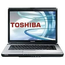 PROFESSIONALLY REFURBISHED TOSHIBA SATELLITE L300 2GB RAM 120 HDD INTEL DUO WINDOWS 7 3 MTH WARRANTY