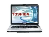 PROFESSIONALLY REFURBISHED TOSHIBA SATELLITE L300 2GB RAM 120 HDD INTEL DUO WINDOWS 7 6 MTH WARRANTY