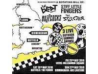 Hatfield Saturday 26th May - The Beat, Buzzcocks,Stiff Little Fingers& The Selecter