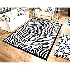 ZEBRA PRINT ANIMAL PRINT AREA RUG MADE IN TURKEY