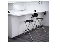 2x Ikea Folding Bar Stools