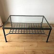 Metal and Glass Top Coffee Table Ikea