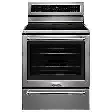65- NEUF - NEW Cuisinière 5 Éléments Convection Électrique KITCHEN AID 5 Element Electric Convection Oven Four