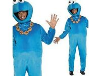 COOKIE MONSTER FANCY DRESS OUTFIT SIZE M/L GREAT FOR A CHRISTMAS OR NEW YEAR PARTY