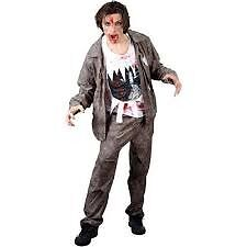 WALKING DEAD / ZOMBIE FANCY DRESS OUTFIT SIZE M GREAT FOR PARTY OR STAG DO