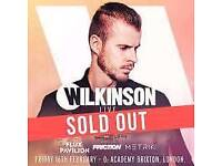 2x Wilkinson tickets for tonight 16th feb Brixton academy