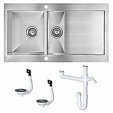 Kitchen sink. Cooke & Lewis 1.5. 2 sink. Brushed Stainless Steel with full plunbing kit