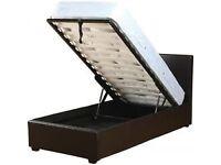 Single ottoman storage bed