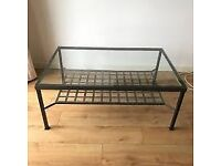 Metal and Glass Top Coffee Table Ikea