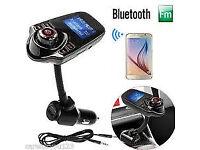 T10 Handsfree Bluetooth Car Kit Set FM Transmitter MP3 Music Player LCD Display USB Car Charger