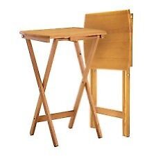 Folding wooden tables