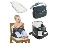 Brand new TOMY 3-in-1 Booster Seat, changing mat, changing bag