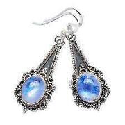 Blue Moonstone Earrings