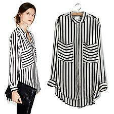 8e8266ef33e652 Plus Size Black and White Striped Shirt