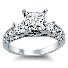 sterling silver engagement ring ebay