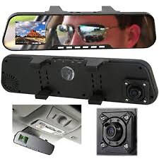 car dash cam hd rear view mirror dual front and back