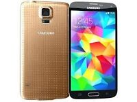 Samsung Galaxy S5 Gold (Unlocked) in good condition