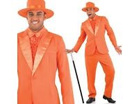 DUMB AND DUMBER FANCY DRESS ORANGE SUIT SIZE M PARTY OR STAG DO ALSO HAVE THE BLUE SUIT