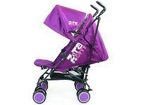 purple zeta stroller