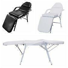 No Assembly - Folding Massage Bed Chair Beauty Spa Salon Barber Tattoo Chair - BLACK OR WHITE