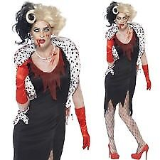 zombie cruella deville fancy dress outfit size l 1618 great for a halloween party
