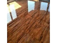 12 mm Walnut HIGH GLOSS Laminate 20 m Squared delivered fully fitted £500