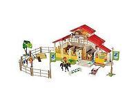 Playmobil 3 Sets together (Pony Farm+Gymkhana+IceCreamParlour)