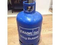 EMPTY Calor Gas 15kg Butane gas bottle cylinder+++ REGULATOR for £5 - BBQ , caravan , camping