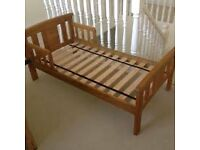 John Lewis Boris toddler bed. with mattress. In very good condition.