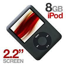 8gb 3rd gen ipod nano with charger. works excellent