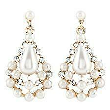 Bridal Chandelier Pearl Earrings