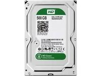 "500 GB HARD DRIVES 3.5"" : Western Digital Caviar Green WD5000AADS SATA 32 MB Cache or Seagate"