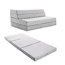 LUCID 4 Inch Folding Mattress and Sofa with Removable Indoor/