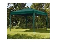 Extra Large Pop Up Square 3m x 3m Garden Gazebo
