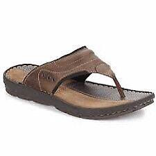 BNIB Hush Puppies Men's Beacher Toe Post Sandal, leather, size 9