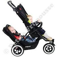 Poussette Double Phil And Ted + Adaptateur Peg Perego